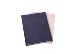 Notepads with pencil on white background
