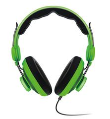 Kopfhörer Musik  grün