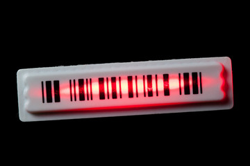 anti-theft barcode sticker with laser ray