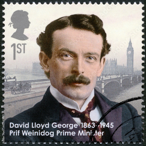 UNITED KINGDOM - 2013: shows prime minister David Lloyd George