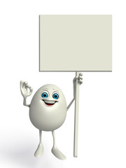 Happy Egg with big white sign
