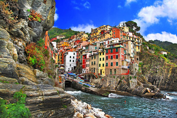 colors of Italy - Riomaggiore, pictorial fishing village,Liguria