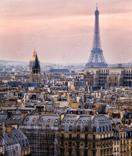View of Paris and of the Eiffel Tower from Above - 62561030