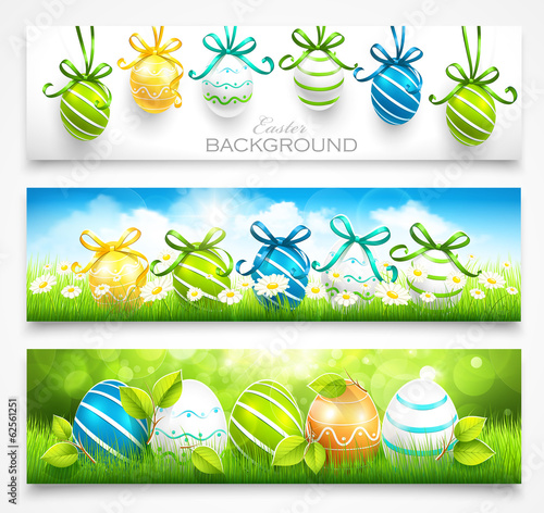 Collection of easter banners