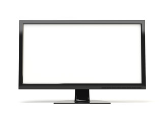 High definition TV on white background
