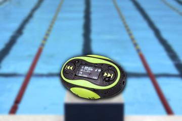 Portable mini MP3 waterproof Swimming pool Background