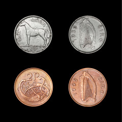Set of coins of Ireland of XX century