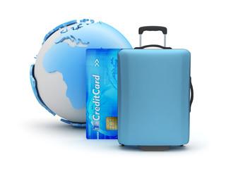 Travel around the world - concept illustration