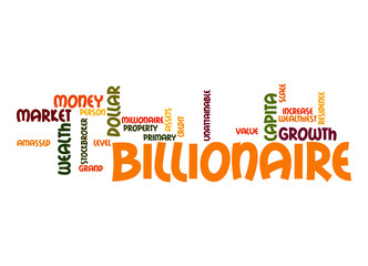 Billionaire word cloud