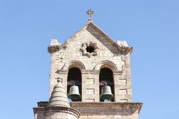Bell tower of a baroque church