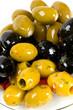 assortment of marinated olives