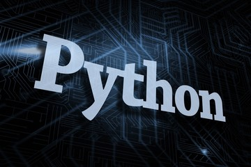 Python against futuristic black and blue background