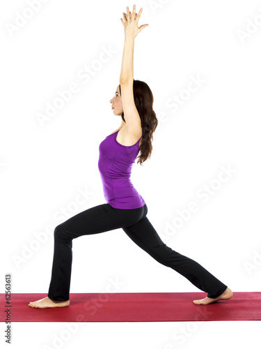 Woman in Warrior Pose in Yoga
