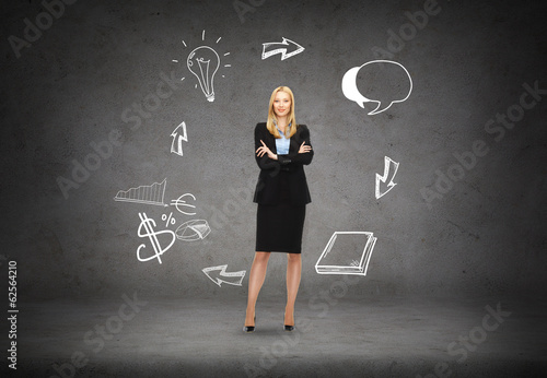 friendly young smiling businesswoman
