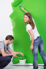 frische farbe für die wände