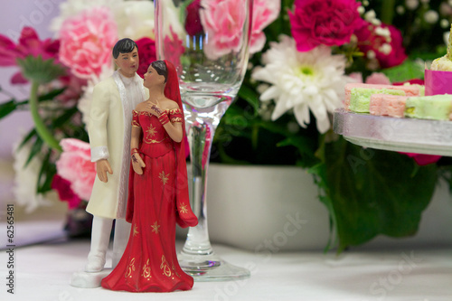 Bride and groom figures