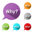 """WHY?"" Speech Bubbles (faq information help support questions)"