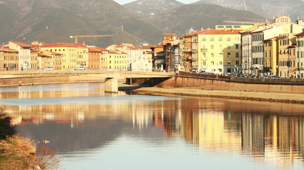 Pisa and Arno River