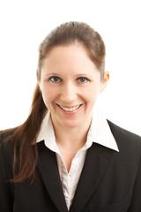 Frontales Portrait einer Geschäftsfrau