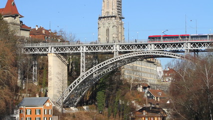 Traffic over the Bridge in Bern