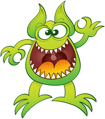 Odd monster laughing and making an OK gesture