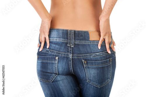 Woman in jeans.