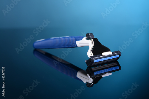 Men  shaver on blue background