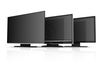 Three modern TV