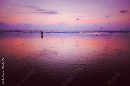 Sunset on Baga beach. Goa
