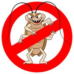Kakerlaken Warnzeichen
