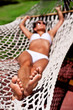 Young woman in hammock.