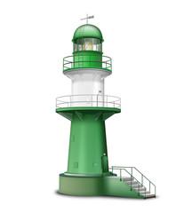 Leuchtturm, freigestellt