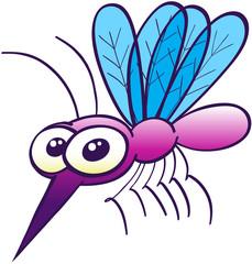 Nice purple little mosquito