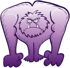 Monstrous yeti in a very angry mood