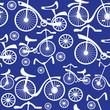 retro children's bicycle seamless pattern