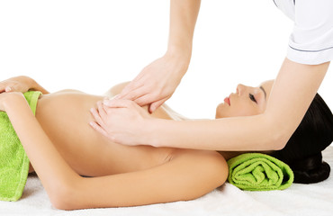 Breast massage.