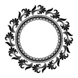 Beautiful Deco Floral Circle (Vector), Patterned frame