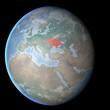 Cartina Europa, Asia, Medio Oriente, Crimea e Ucraina