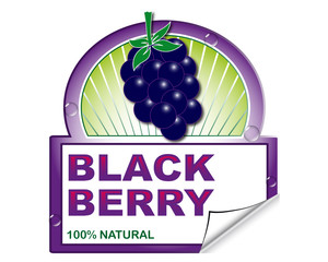 Wild black berry's label marketplace