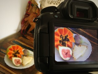 Backstage of food photography