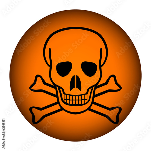 Deadly danger sign button
