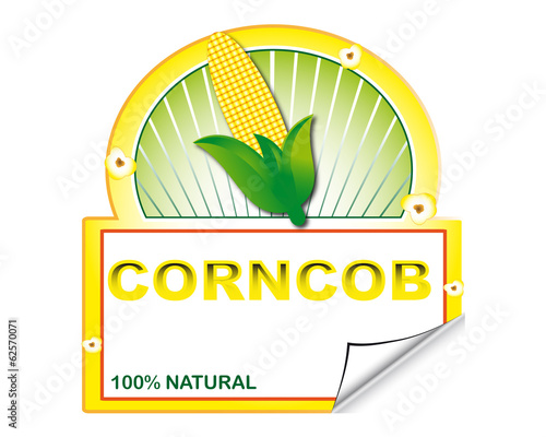 Corncob's label for marketplace