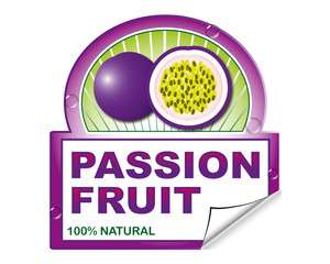 Passion fruit's label for marketplace