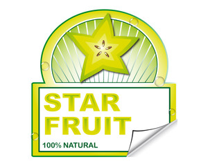 Star fruit's label for marketplace