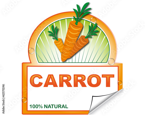 Carrot's label for market place