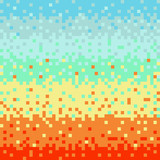 Abstract vector pixel art background