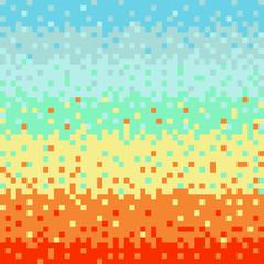 Abstract vector pixel art background