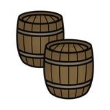 2 Wood Gunpowder Wine Beer Barrels poster