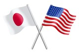 Flags : Japan and United States