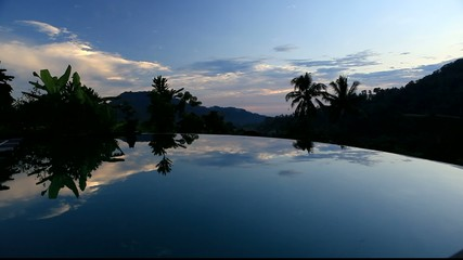 Evening ar the pool